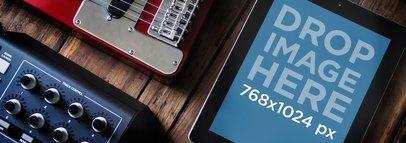 Apple iPad Black Portrait Music Studio Wide