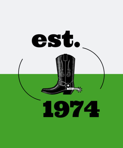 T-Shirt Design Template Featuring Old-Looking Western Graphics 1705-el1