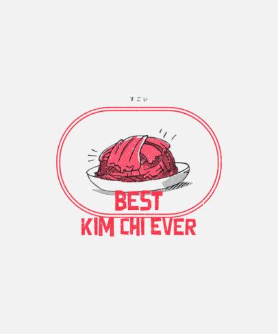 T-Shirt Design Maker Featuring a Kimchi Clipart 1697c-el1