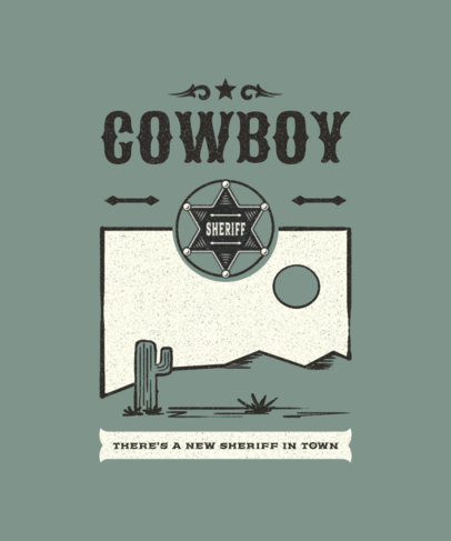 T-Shirt Design Creator Featuring a Sheriff Badge Graphic 1709a-el1