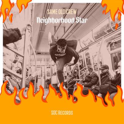 Illustrated Album Cover Design Maker for a Hip Hop Album 2586h