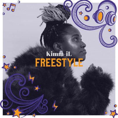 Fresh Album Cover Generator Featuring Cartoonish Elements 2586l