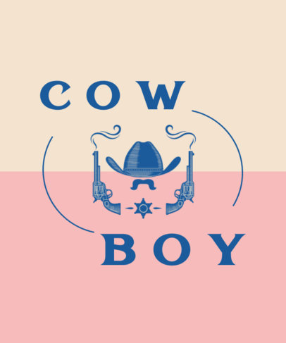 T-Shirt Design Generator Featuring Cowboy Accessories 1705a-el1