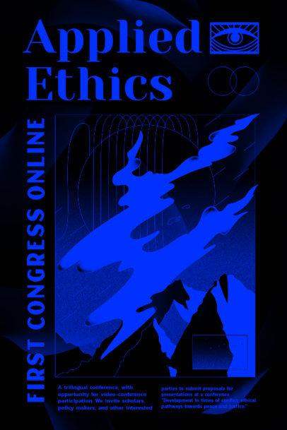 Poster Design Maker to Promote a Virtual Congress 2576c