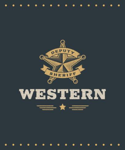 T-Shirt Design Maker Featuring a Wild West Star Icon 1707c-el1