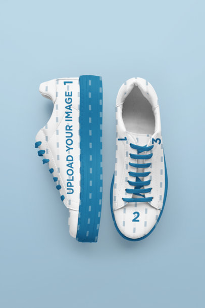 Mockup of a Pair of Thick-Soled Sneakers 36475-r-el2