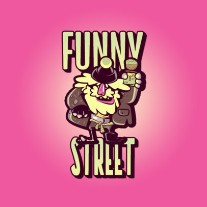 Logo Maker for a Streetwear Brand Featuring a Funny Old Man Cartoon 3329o
