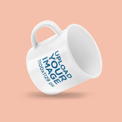 12 oz Enamel Mug Mockup Featuring a Colored Backdrop 4499-el1