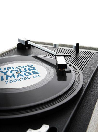 Mockup of a Vinyl on a Record Player 36909-r-el2