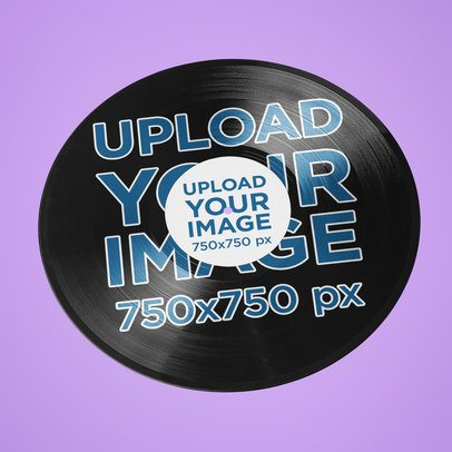 Mockup of a Vinyl Record on a Customizable Surface 36671-r-el2