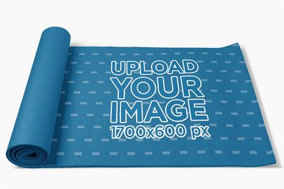 Mockup of a Yoga Mat Placed on a Customizable Surface 37046-r-el2
