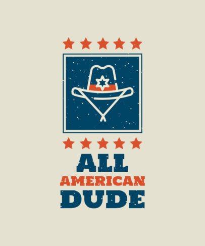T-Shirt Design Generator Featuring an American Cowboy Hat 1849c-el1