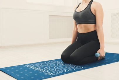 Yoga Mat Mockup of a Woman Working Out 37065-r-el2