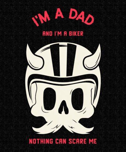 Cool T-shirt Design Maker For a Biker Dad 2134i-2614
