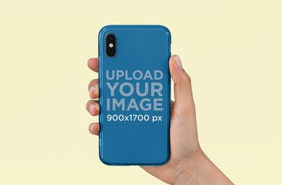 Clear Phone Case Mockup Featuring a Customizable Background 4645-el1