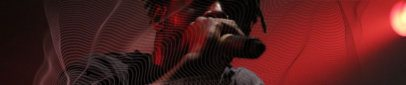 Soundcloud Banner Template Featuring a Man Singing 2596l