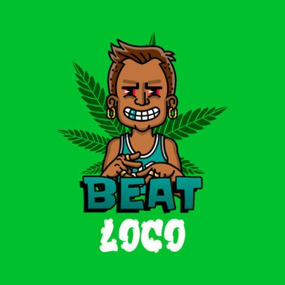Avatar Logo Creator with a Marijuana Plant Graphic as Background 3331e