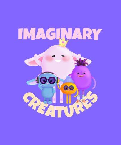 T-Shirt Design Maker Featuring Imaginary Cartoon Characters 2652