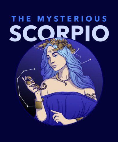 T-Shirt Design Maker Featuring Zodiac Sign Character Illustrations 2655