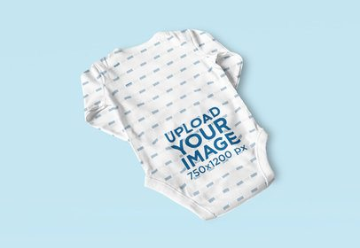 Mockup of the Back of a Sublimated Baby Onesie 4592-el1