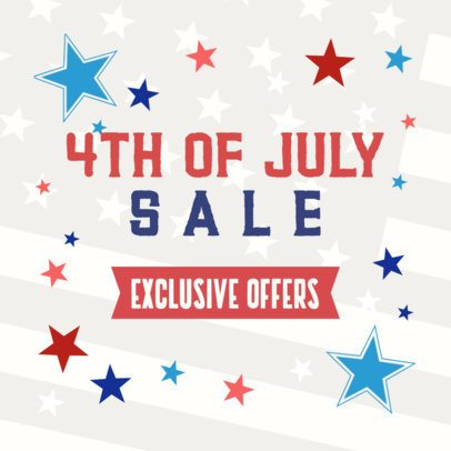 Banner Design Maker for a 4th of July Exclusive Sale 2488k 2664