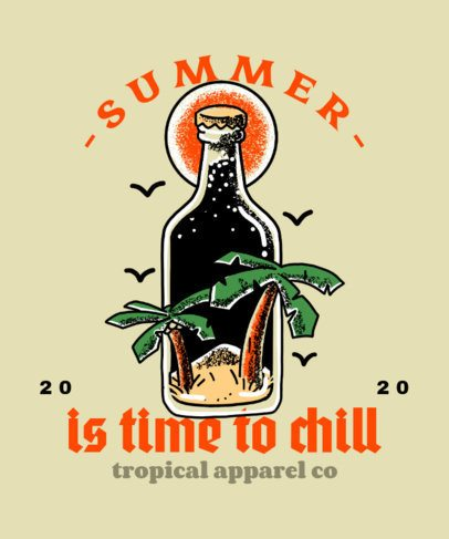 T-Shirt Design Maker for a Clothing Brand with a Tattoo-Like Bottle 2629a