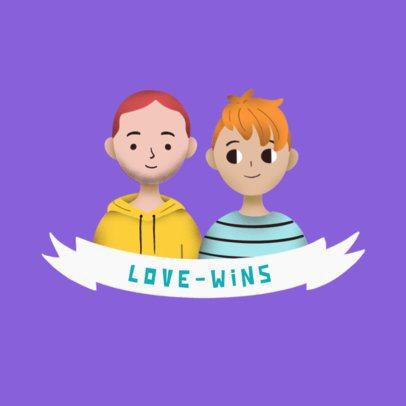 Avatar Logo Template Featuring Romantic Couples 3372d
