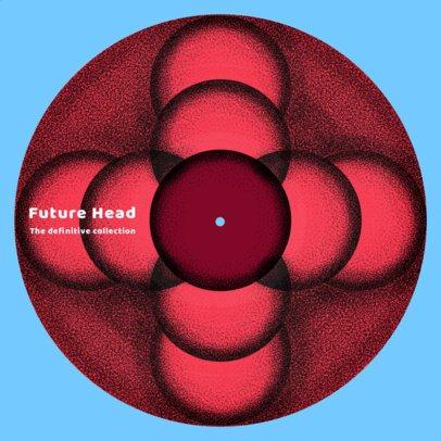 Vinyl Record Design Maker Featuring a Symmetric Pattern 2625e