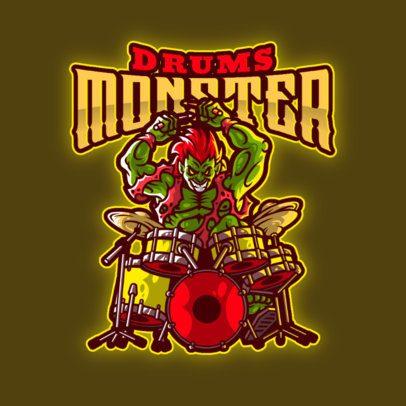 Online Logo Maker Featuring a Hardcore Zombie Drummer 3378b