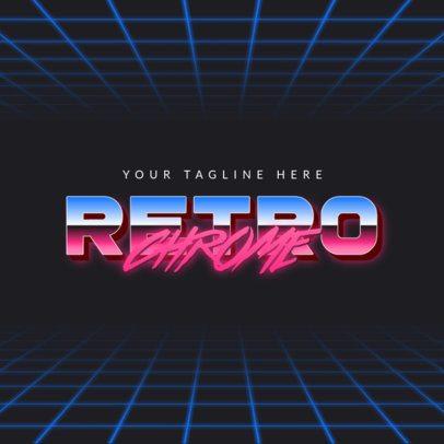 Retro Logo Maker Featuring Chrome Typography 3398