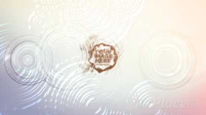 Intro Maker Featuring a Logo Reveal with Animated Water Ripples 1284-el1