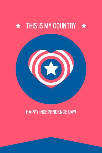 Pinterest Pin Generator Featuring an American Heart Graphic for 4th of July 1949b-el1