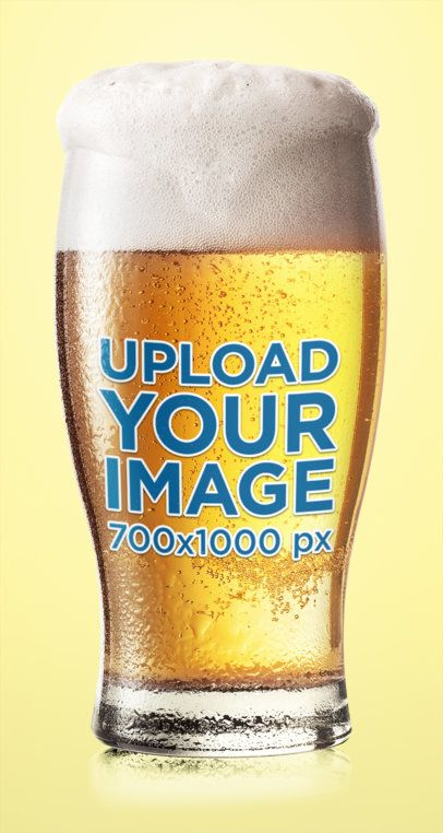 Mockup of a Beer Glass Featuring a Customizable Background 35539-r-el2