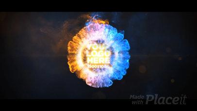 Epic Intro Video Creator Featuring a Colorful Explosion 1715-el1