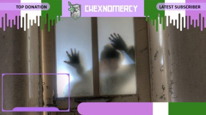 Customizable Twitch Overlay Creator Featuring a Horror Background Picture 2669f