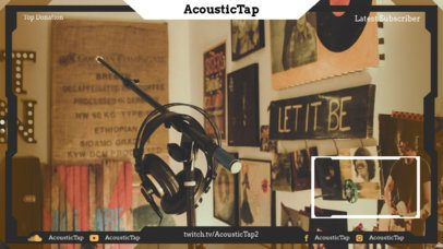 Simple Twitch Overlay Maker with Webcam Frame for a Music Streamer 2678e