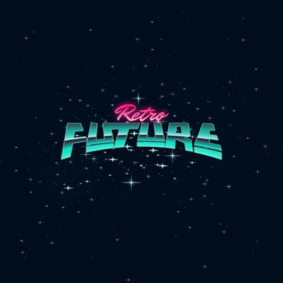 Typography Logo Template With a Retro-Futuristic Style 3395e