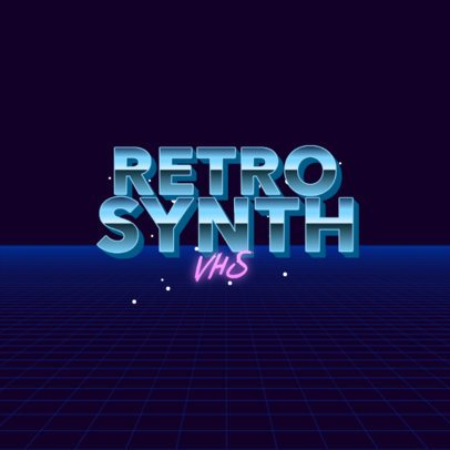 Typography Logo Generator with a Vaporwave Style 3397c