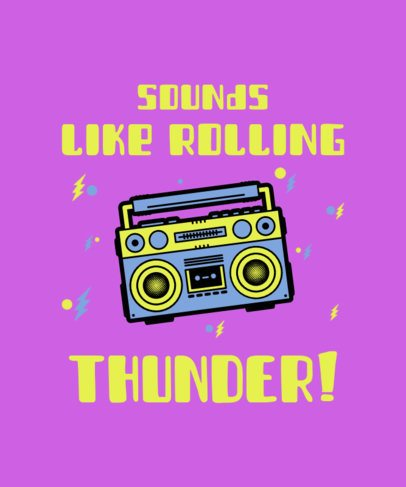 80s T-Shirt Design Generator with a Boom Box Graphic 2693c