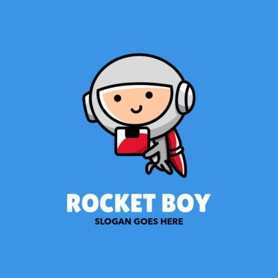 Logo Maker Featuring an Illustration of a Kid in a Spacesuit 2093c-el1