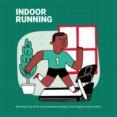 Instagram Post Generator for Indoor Running Advice 1975d-el1