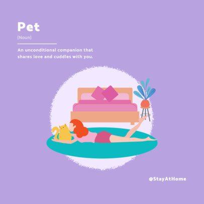 Adorable Pet-Themed Social Media Post Maker with a Simple Illustration 1983e-el1