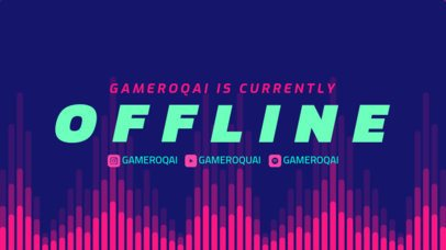 Twitch Offline Banner Creator with an EQ-Like Background Graphic 2706k