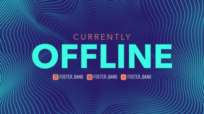 Twitch Offline Banner Maker for Musicians Featuring a Wavy Background Pattern 2706e
