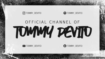 Twitch Offline Banner Template for a Music Artist Featuring a Grunge Frame 2703b