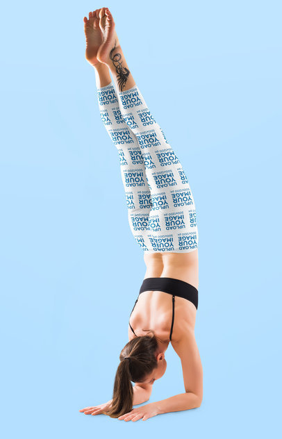 Leggings Mockup Featuring a Woman Doing an Arm Stand 38471-r-el2