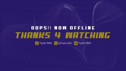 Twitch Offline Banner Design Template with a Minimal Background 2706i