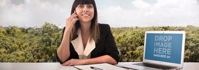 Stillshot Apple MacBook Air Business Woman Wide