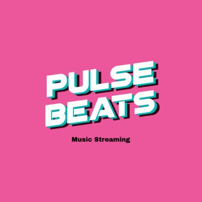 Logo Generator for a Music Streaming Channel Featuring Bold Typeface 3433e