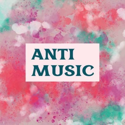 Music Logo Creator Featuring a Dynamic Textured Background 3432b